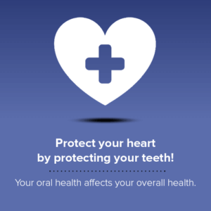 Protect your heart - Blue square with white heart