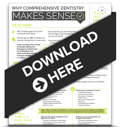 Preview of the infographic about comprehensive dentistry Scottsdale