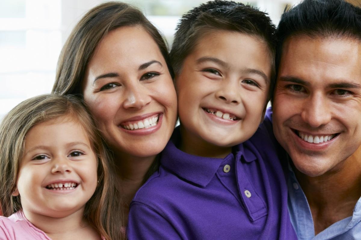 Happy, smiling family